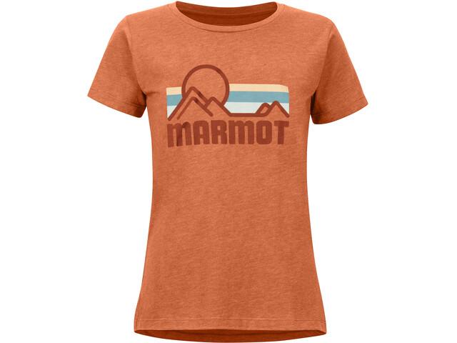 Marmot Coastal T-shirt Femme, amber heather